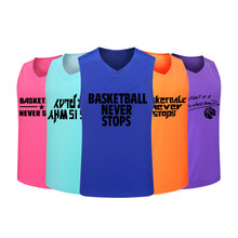 Adsmoney Polyester 14 color Cheap Mens Basketball Jersey Breathable College Sport Team Basketball Shirt Sleeveless Training Vest(China)