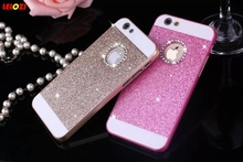 LELOZI Bling Bling Crystal Fashion Shinning Case Diamonds Glitter Protector Cell Phone Back Cover For apple iphone 4 4s(China)