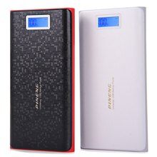 Original PINENG PN-920 20000mAh Mobile Portable Power Bank Dual USB Charging External Battery Charger with LCD Flashlight