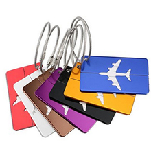7pcs/pack Luggage Tag Travel Boarding Aircraft Luggage Label Plane Shape Suitcase Tag Label Name Address Holder Hangtag AY889282