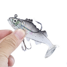 Fly Fishing Lure Rubber Silicone Baits peche leurre pesca isca swimbait Ocean River Lake Soft Ruber Fishing Lures(China)