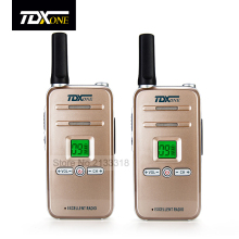 TDX Q7 Mini Professional Walkie Talkie 5W UHF 400-480MHz PTT Portable Ultra-Slim Two Way Radio Interphone 99 Channel 2-5km 2 PCS