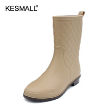 Rain boots women 2017 fashion shoes manufacturers wholesale ladies boots and cotton slip water tube ladies warm boots 3 colors