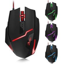 2018 Top SALE ZELOTES T10 7200DPI USB Professional Wired Optical 7 Buttons Self-defining Gaming Mouse Quick Thumb Function(China)