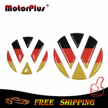 Car Styling VW Emblem Badge Sticker Front Rear Logo Tail Decal Decoration For Volkswagen Golf  6 7 Polo Beetle Touran Passat CC