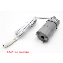 1.2A 600L/m 5.5X2.1 Female Connector 12V 24V 2A Adapter Power Supply Mini Submersible DC Motor Water Pump(China)