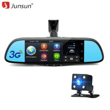 Junsun 7 inch Car DVR Camera Mirror Android 5.0 Dual Lens FHD 1080P GPS Navigation Bluetooth Registrar Video Recorder Dash Cam(China)