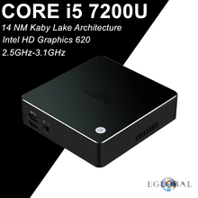 EGLOBAL Intel Core i5 7200U Mini Computer Windows PC Kaby Lake Max 3.1GHz Graphics HD 620 4K HTPC 5G AC Wifi Bluetooth DP HDMI