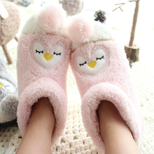 Cartoon Indoor Slippers For Adults Plush Animal Slippers Warm Thicke Cotton Boots At Home Pantufa de bichos(China)