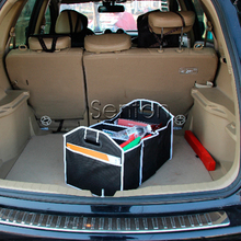 Folding Storage Box Car Trunk Bag Net For Honda CRV Peugeot 3008 2008 Mazda 6 3 Volkswagen Polo Suzuki Grand Vitara Accessories(China)