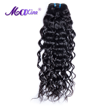 Maxine Hair Products 1 Piece Peruvian Water Wave Human Hair Weave Bundles 12-28in Alibaba 1B Non Remy Hair Extension Can Be Dyed(China)
