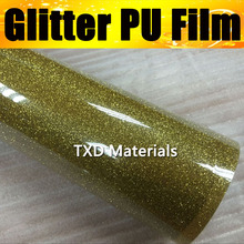 1 Yard Gold glitter heat transfer pu vinyl for garment , cutting plotter transfer glitter pu film with free shipping 50X100CM