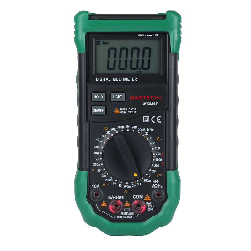 MASTECH Digital Multimeter MS8265 AC DC Volt Ampere Ohm Capacitance Frequency Tester Meter Transistor Continuity Diode Tester<br>
