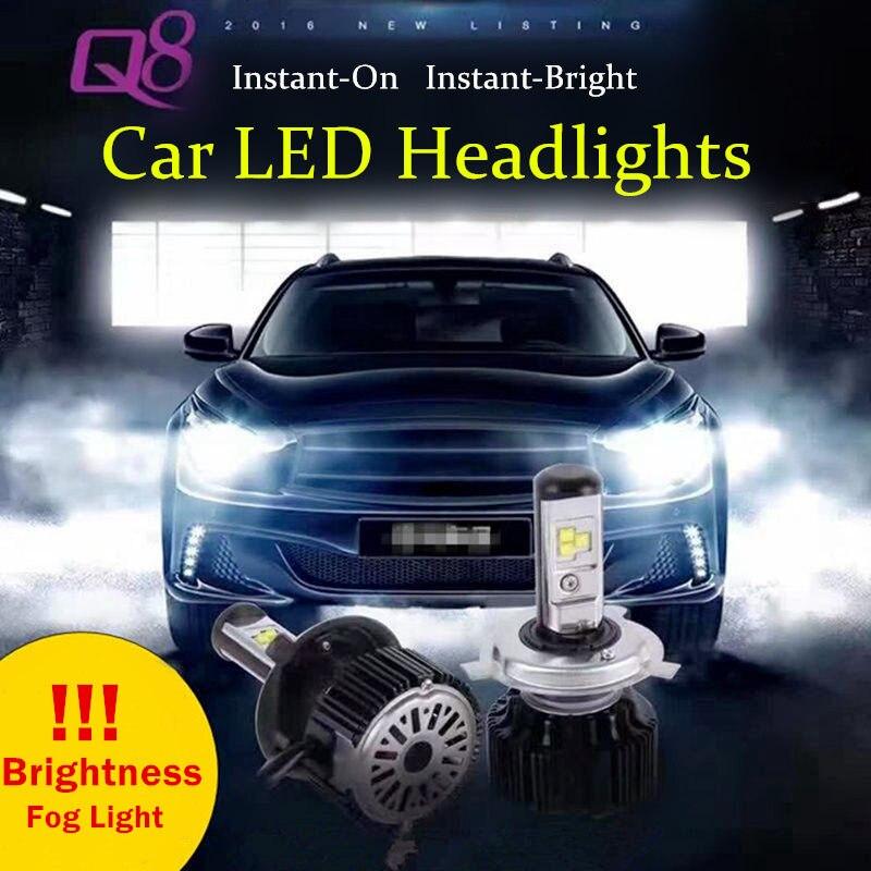 Car-Styling DC12V DRL Universial 2pcs External Auto Beam Car LED Headlights Super Bright High Power Lamp Q8 Car Fog Light Source<br><br>Aliexpress