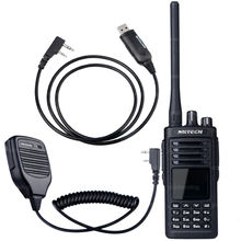 NKTECH Walkie-Talkie MD-380 Plus DMR Digital Radio 1000 Channels +1 Remote Speaker Microphone + 1 USB Programming Cable(China)