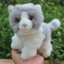 Plush Toy Simulation  Gray Cat  Doll Stuffed Animals Toys  Cute  Birthday Gifts