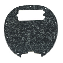 KAISH  Bass Pickguard MusicMan Stingray MM4 Scratch plate for Music Man MM2 4 String Guitar Parts Black Pearl
