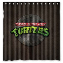 Custom Fashion Bath Products /Waterproof Teenage Mutant Ninja Turtles Print Bathroom Curtains/ Decor Shower Curtain 180*180cm(China)
