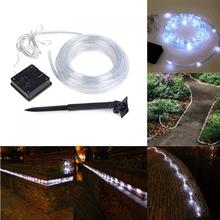 Energy Saving 12m 40ft 100leds Solar Rope Tube LED Light String STRIP Waterproof Outdoor Party