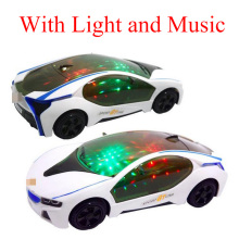 New 3D Flashing Electric Car toy with Lights and music child gift car Models Sound go around and changes directions contact