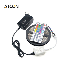 1Pcs 24 / 44 Keys Controller / 12V 3A Adapter / 5M / Roll 5050 SMD RGB LED Strip light Ribbon For DIY Indoor Decoration lighting