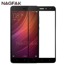 NAGFAK 0.26mm Thin Full Cover Screen Protector For Xiaomi Redmi 4 4X Note 4 Tempered Glass For Redmi Note 4 Note 4X Glass Film(China)