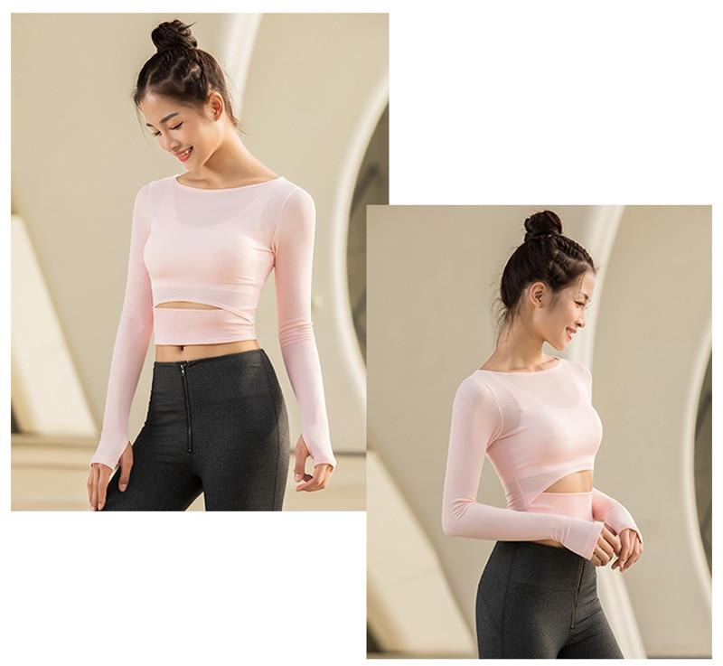 women yoga shirts tops (5)