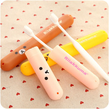 Cute Cartoon Children Toothbrush Box Bath Product Protect Toothbrush Case Holder Camping Portable Cover Travel Hiking Box Tube