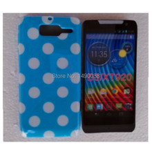 Hot Polka Dots Points Soft TPU Phone Case for Motorola Moto XT920 Skin Cover Phone Case Free