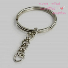Hot High quality Special Design Key Chain Key Rings Silver color charms Tone Key Rings 2.5cm DIY jewelry keychain accessories