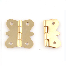 200PCS/LOT Solid Brass Butt Hinge Hinges Butterfly Design For Jewelry Chest Gift Wine Music Box Dollhouse Cabinet(China)