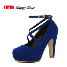 Super High Heels Women Heeled Shoes Round toe Fashion Women's Pumps Sexy Ladies Night Club Shoes Brand Heel Plus Size 42 ZH2316(China)