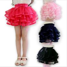 UNIKIDS New fashion girls tutu skirts baby Bowknot skirt retail childrens fluffy pettiskirts kids Layered casual skirt for girls(China)