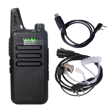WLN KD-C1 UHF 400-470 MHz MINI Handheld Two-Way Ham Radio Communicator HF Transceiver Portable Walkie Talkie With headset Cable