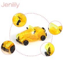 54pcs JN9061 DIY Funny Classic Cars 3D Puzzles assembled model birthday new year gift children play set toys for kids(China)