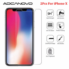 Buy 2Pcs/Lot 9H Screen Protector Tempered Glass Apple iPhone X 8 7 6 6S Plus 5 5S 4 4S Toughened Glass Protective Film for $1.39 in AliExpress store