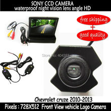 wireless Front Side Waterproof HD sony CCD Front View car camera logo camera with front  monitor for Chevrolet Cruze 2010-2013