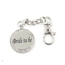 10pcs/lot New design rhinestone bride to be key chain wedding gift keychain