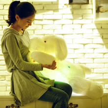 Cute Inductive Dog Nightlight Plush Toy LED Glow Pillow Soft Light Up 2016 NEW ARRIVE FASHION