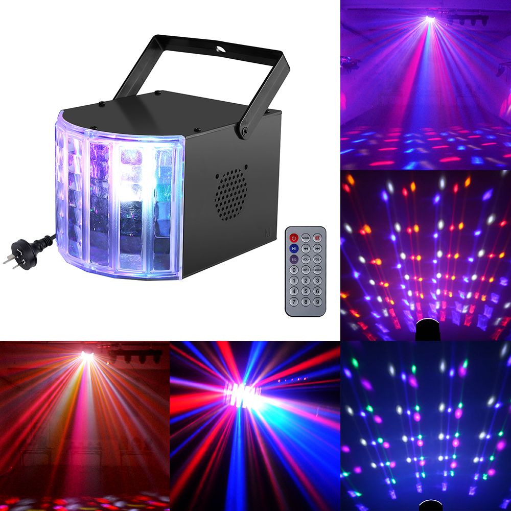Mini Butterfly 6LED Led Stage Lights Portable RGB Color Sound DMX512 Control Laser Projector for Xmas DJ Party Lighting Effect<br><br>Aliexpress