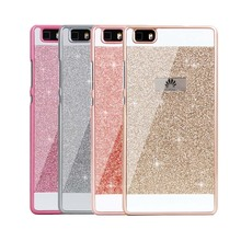 Diamond Bling Case For Huawei P8 P8 Lite P9 P9 lite Hard Flash Plastic Crystal Cover for Huawei P8 lite P9 lite Case Cover