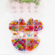 Hot Sale 900pcs/lot Mixed Acrylic Beads with Box Best Organizer Storage Beads Box Plastic Jewelry Packaging Box DH-BDH038(China)