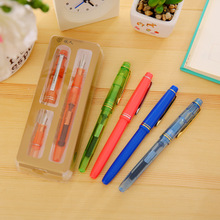 Fountain Ink Pen Set Stationery Store Escritorio School Office Item Papeleria Yiren 358 Gift Box Student Writing Tool Stationary