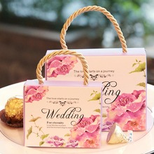 30pcs Wedding Favor Box Floral Candy Box Wedding Favors Gift Chocolate Cookie Box Gift Boxes for Guest Wedding Party Celebration