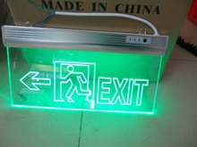 Fire control Emergency passage EXIT Acrylic carving LED lamp Fire emergency indication board Arrow Evacuation sign Tag(China)