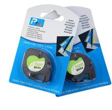 Sales Free shipping 6 pcs/lot Compatible DYMO LT Letratag label tape paper 12mm 91200 for DYMO plastic label printer
