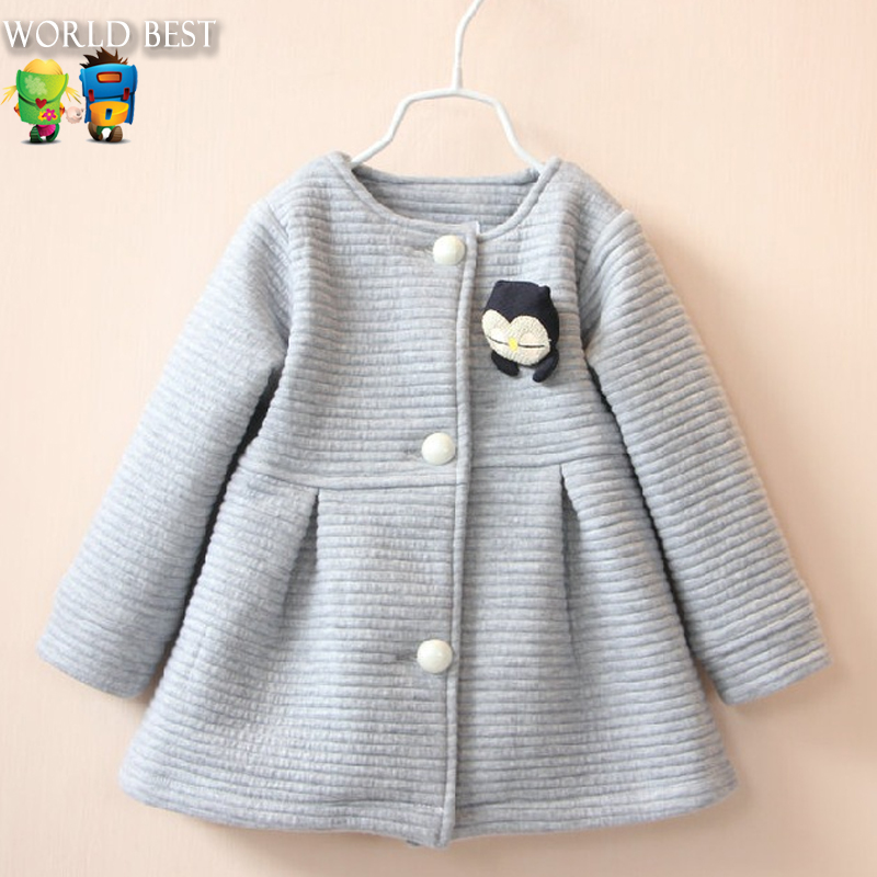 2017 Spring Children Jackets Baby Little Penguin Single Breasted Child Coat Girl Outerwear Jackets For Girls Bow Girl Clothes<br><br>Aliexpress