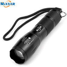 ZK59 Portable LED Flashlight LED Torch Zoomable Flashlight 4000LM E17 CREE XM-L T6 LED 5 Mode Light For 18650 or 3xAAA Battery(China)