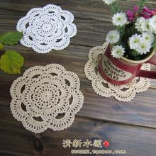 Free shipping 2015 new arrival cotton crochet lace doilies for home decor felt as innovative item table pads cup coaster mats