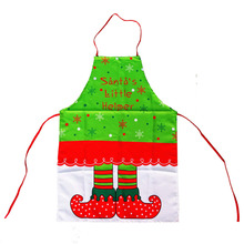 Christmas Aprons Women Kitchen Cooking Tablier Snowflake Elf Boot Pattern Dinning Party Dresses XMAS Decorations Home - Taganov Friendship Store store
